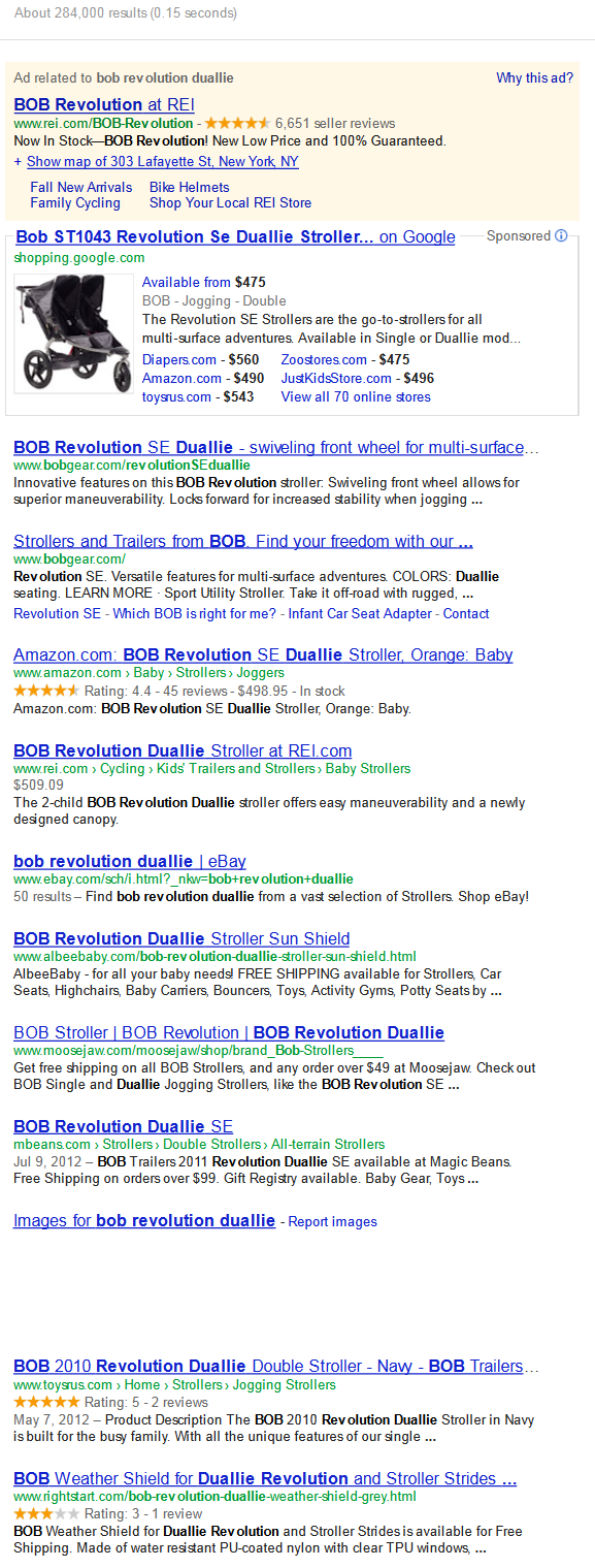 buyer keywords search results